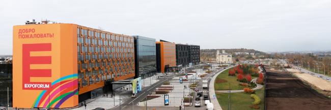 Конгрессно-выставочный комплекс «Экспофорум». Изображение предоставлено архитектурной мастерской «Евгений Герасимов и партнеры»