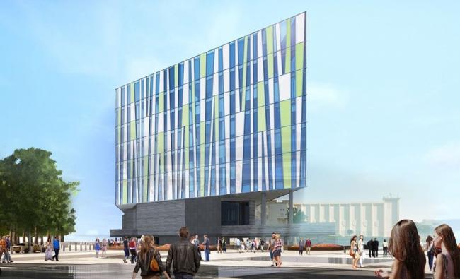 Проект фасадов гостиницы «Crystal Jumerian Hotel» в г. Дубай. Вариант 2 © ГрандПроектСити