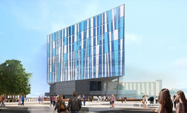 Проект фасадов гостиницы «Crystal Jumerian Hotel» в г. Дубай. Вариант 3 © ГрандПроектСити