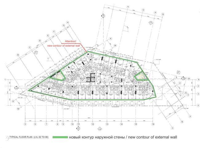 Проект фасадов гостиницы «Crystal Jumerian Hotel» в г. Дубай. Проект, 2016 © ГрандПроектСити