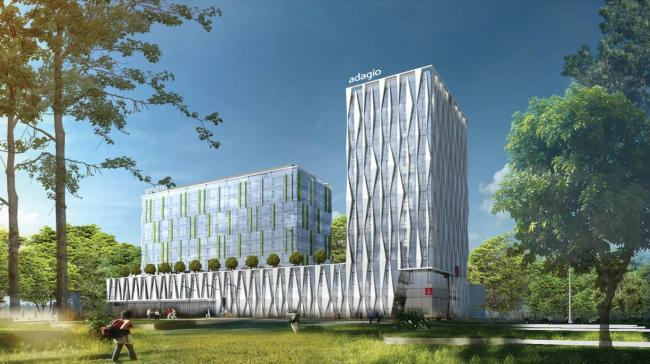Здание гостиницы на Ленинградском шоссе, вл. 61. Проектная организация: «Архитектурное бюро Асадова». Заказчик: «Альбатрос»