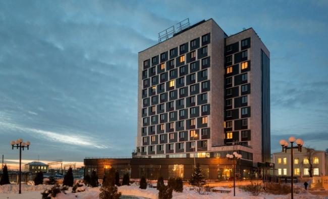 Гостиничный комплекс «Park Inn» в Новосибирске. Реализация, 2015 © Архитектурная мастерская «А.Лен»