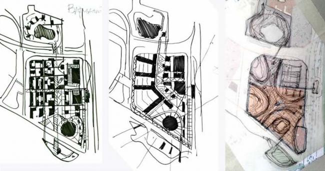 Варианты. Архитектурно-планировочная концепция проекта «Новосибирск-Арена».  Эскизная проработка: А. Иванов, А. Хомяков. Проект, 2016 © Архстройдизайн