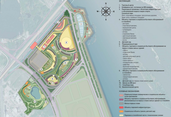 """Architectural and planning concept of """"Novosibirsk Srena"""". Project, 2016 © Arkhstroydesign"""