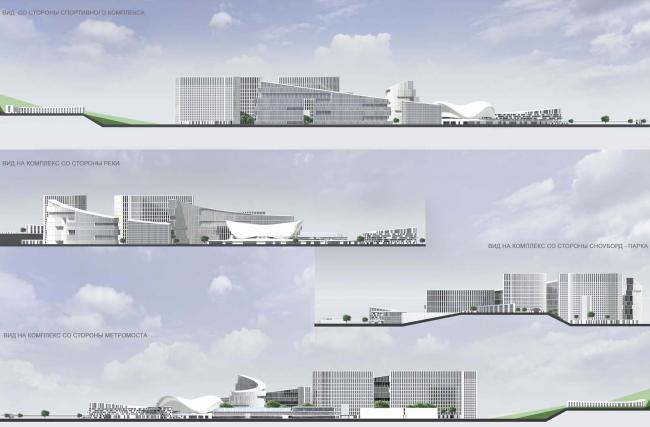 Архитектурно-планировочная концепция проекта «Новосибирск-Арена». Развертки. Проект, 2016 © Архстройдизайн