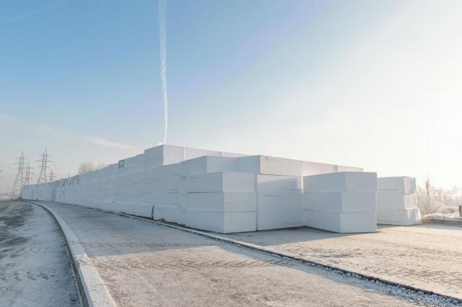 Геофом – блоки из пенополистирола повышенной прочности для применения в дорожном строительстве. Фотография предоставлена компанией «КНАУФ Пенопласт»