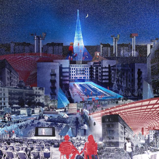 Unrationalism / [Ир]рационализм. Проект, выполненный в рамках воркшопа «Лаборатория преобразований. Шаболовка: модель для жизни» (AAVS + МАРШ) © AAVS