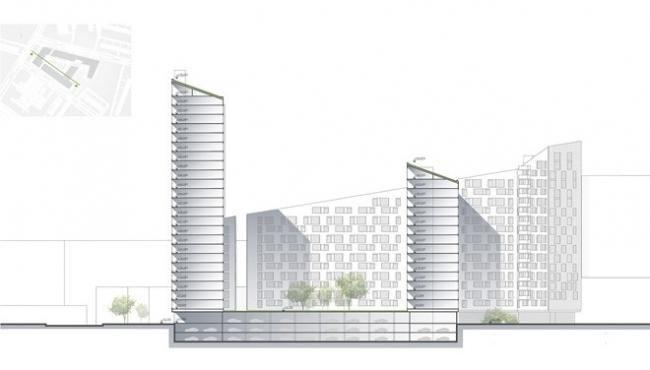 Жилой комплекс «Введенские горы». Проект, 2012 © Архитектурное бюро «А.Лен»