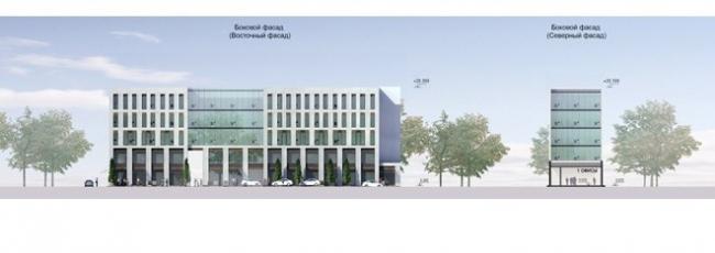 Реконструкция здания под офисный центр. Проект, 2012 © Архитектурное бюро «А.Лен»