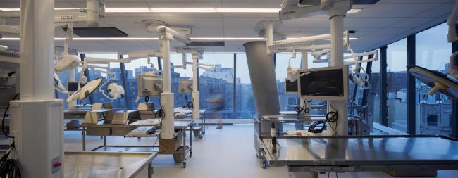 Учебный центр четы Вагелос Медицинского центра Колумбийского университета © Nic Lehoux. Предоставлено Diller Scofidio + Renfro