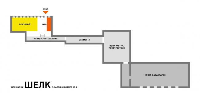 Расположение экспозиций в пространстве BEREG
