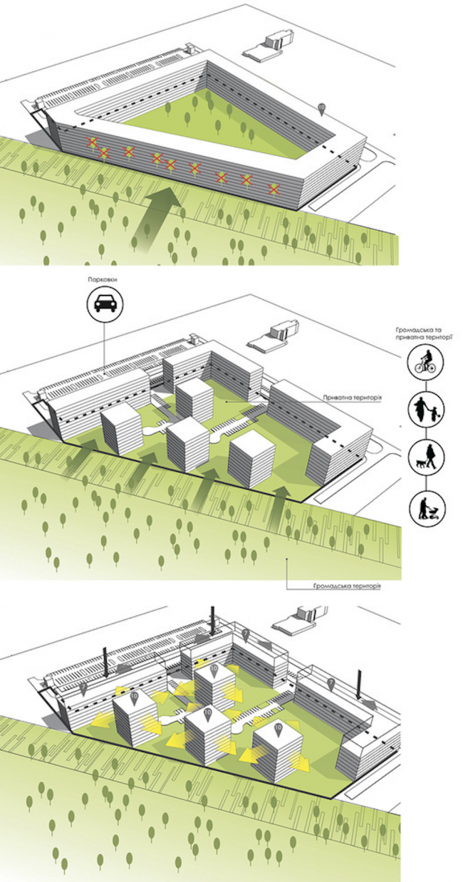The housing complex on the Stryiska Street in Lviv. Layouts. Project, 2016 © Archimatika
