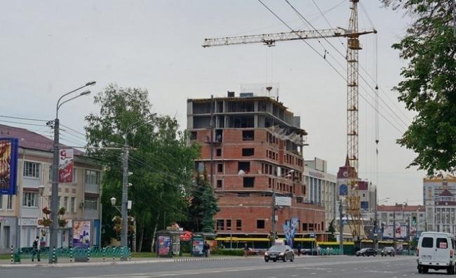 Отель «Mercure». В процессе строительства © Архитектурное бюро «А.Лен»