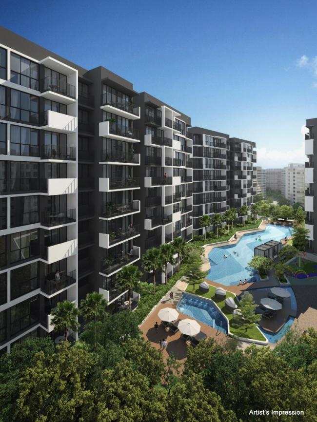 Девелоперский проект жилищной и коммерческой застройки в Сингапуре. Изображение с сайта wisteriacondo.com