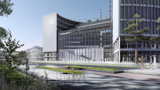Технопарка Сбербанка на территории инновационного центра Сколково. Проект, 2016 © Архитектурная мастерская «Гран»