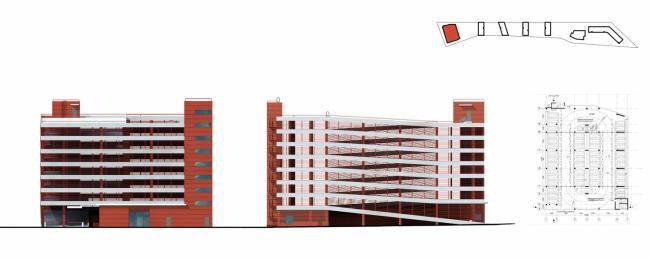 Жилой комплекс в микрорайоне «Заветы Ильича». Проект, 2012 © АБ «Остоженка»