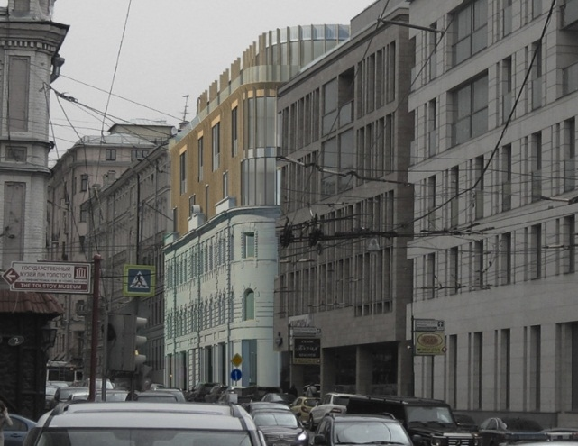 Апарт-отель на ул. Остоженка. Проект, 2013 © АБ «Остоженка»