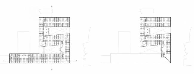 Комплекс зданий гостинично-делового центра. Проект, 2011 © АБ «Остоженка»