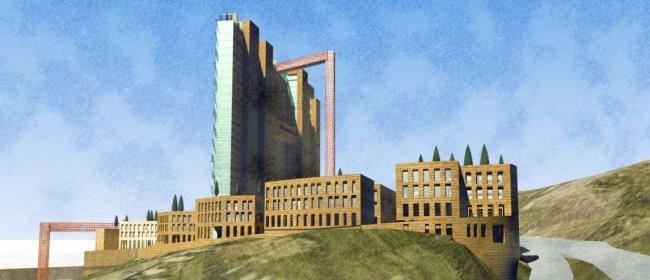 Международный деловой центр с отелем Intercontinental в Ереване. Конкурсный проект, 2009 © АБ «Остоженка»