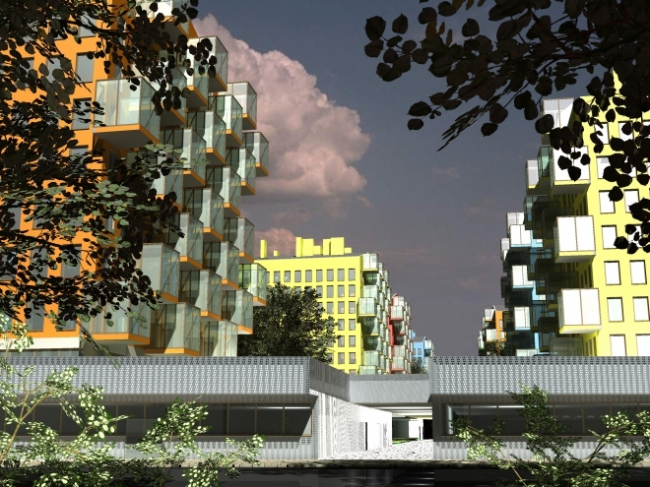 Жилой комплекс на территории завода ОАО «Язта» в г. Ярославль. Проект, 2008 © АБ «Остоженка»