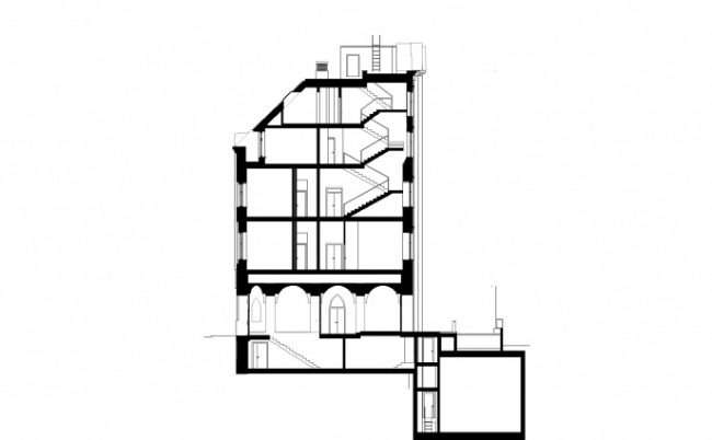 Реконструкция жилого дома в Нащокинском переулке © АБ «Остоженка»