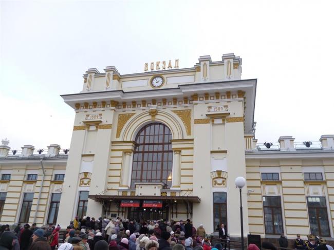 Отреставрированный железнодорожный вокзал в Рыбинске © «Костромапроект»