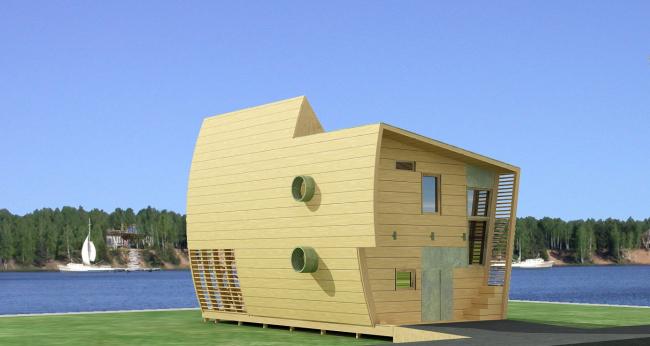 Дом «Парус». Проект, 2007 © Архитектурная мастерская Тотана Кузембаева