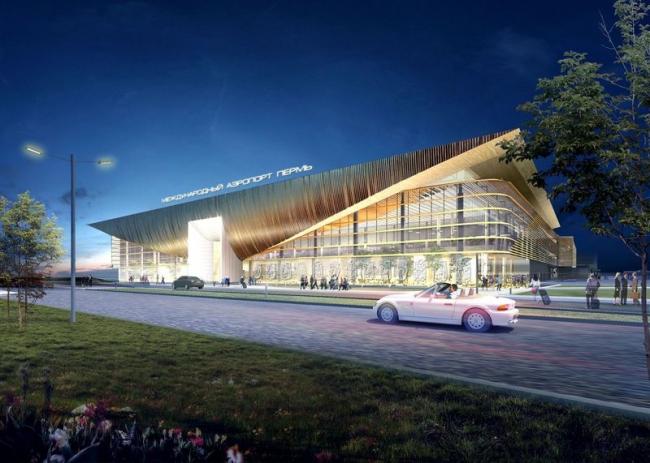 Аэропорт в Перми. Проект, 2013-2015 © Архитектурное бюро Асадова