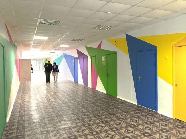 Реновация школы №1273. Интерьер помещений © Архитектурное бюро Асадова