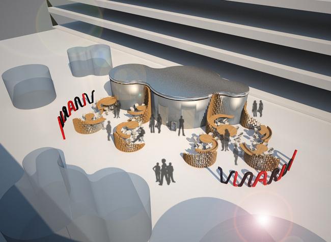 Концепция винного павильона для Технопарка Skolkovo. Бюро проектов «Платформа», Тюмень. Предоставлено оргкомитетом премии Archpoint Concept Awards
