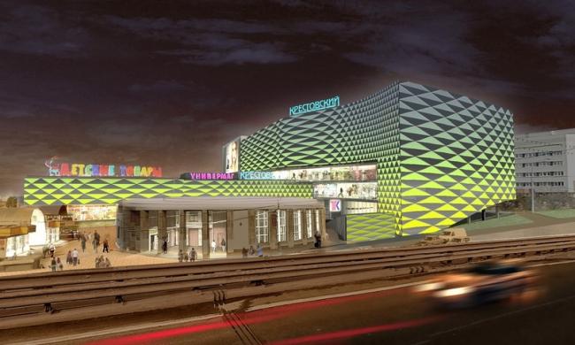 Реконструкция фасадов универмага «Крестовский». Проект, 2013 © Архитектурное бюро Асадова