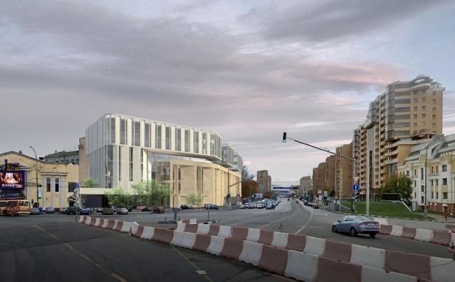 Многофункциональный гостиничный комплекс на ул. Б. Каменщики. Проект, 2013 © Архитектурное бюро Асадова