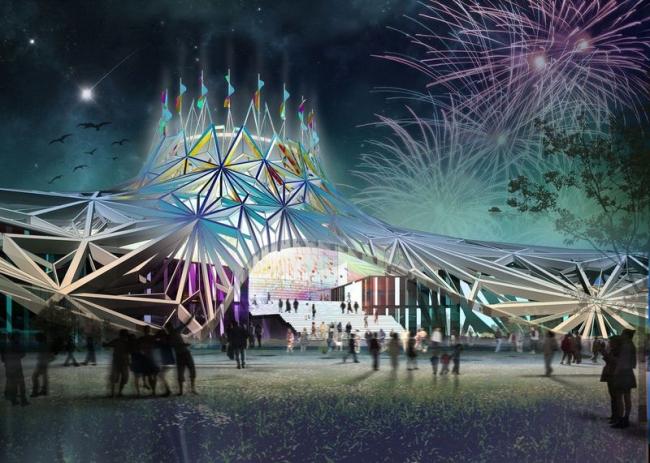 Новое здание цирка в Баку. Проект, 2012 © Архитектурное бюро Асадова