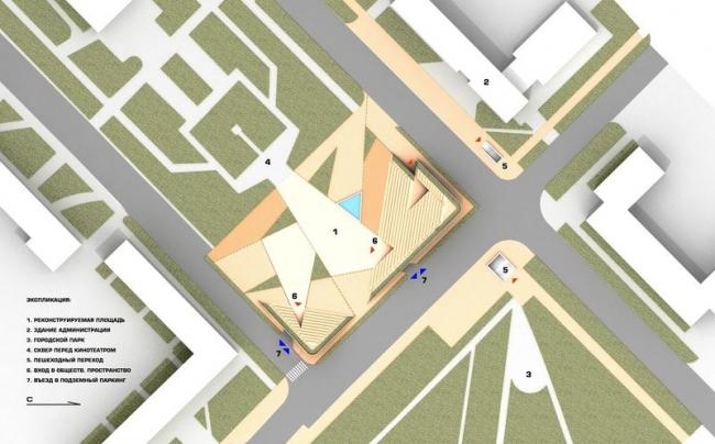 Площадь в Мытищах. Проект, 2012 © Архитектурное бюро Асадова