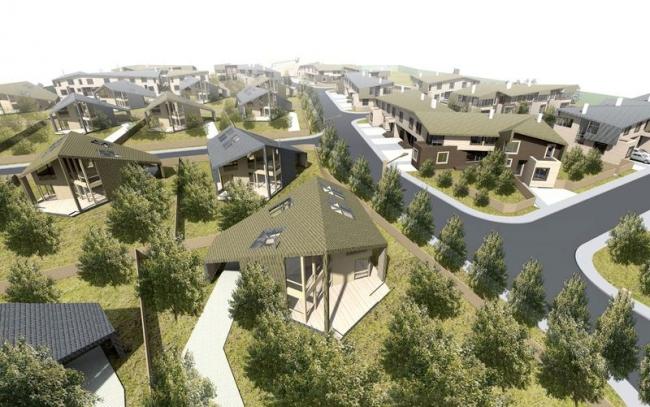 Малоэтажная жилая группа западнее д. Зимино. Проект, 2012 © Архитектурное бюро Асадова