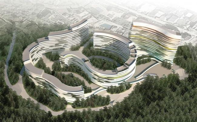 Курортный комплекс в Сочи. Проект, 2011 © Архитектурное бюро Асадова
