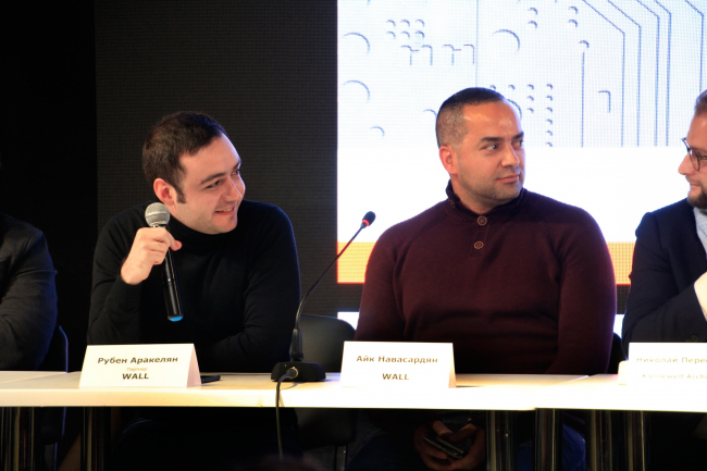 Рубен Аракелян и Айк Навасардян, бюро Wall. Фотография © Юлия Тарабарина, Архи.ру