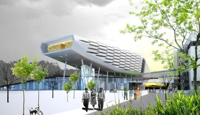 Реконструкция «Звездного городка». Проект, 2010 © Архитектурное бюро Асадова