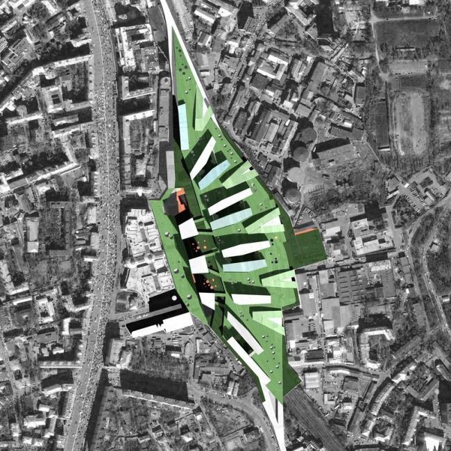 Развитие территории Курского вокзала. Проект, 2008 © Архитектурное бюро Асадова