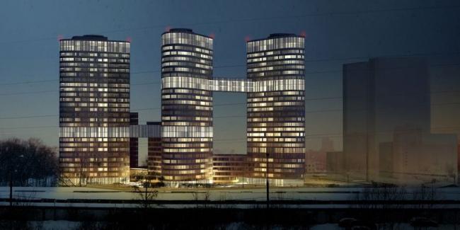 Многофункциональный спортивно-жилой комплекс в Химках. Проект, 2012 © ГрандПроекСити