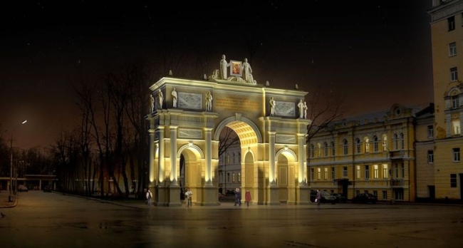 Памятник в честь 1150-летия г. Смоленска. Проект, 2011 © ГрандПроектСити