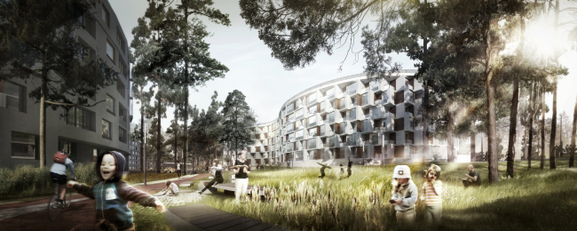 Парк здоровья «Светлый мир ВНУТРИ». Проект, 2015 © Архитектурное бюро «А.Лен»
