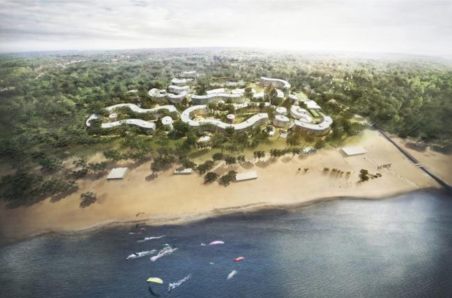Парк здоровья «Светлый мир ВНУТРИ». Процесс строительства © Архитектурное бюро «А.Лен»