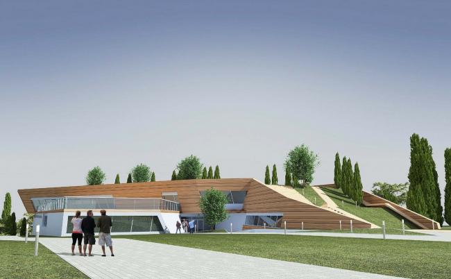 Комплекс вилл и винодельня в Ялте. Винодельня. Проект, 2016 © Архитектурная мастерская Цыцина