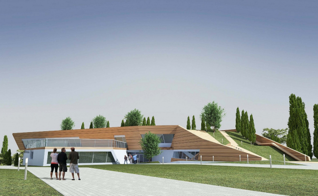 The villa complex and a winemaking center in Yalta. The winery. Project, 2016 © Sergey Tsytsin architects