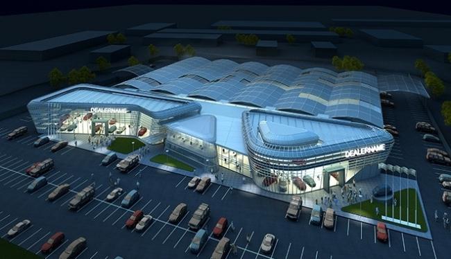 Автосалон «ЛАДА-СЕРВИС». Проект, 2008 © Архитектурное бюро «А.Лен»