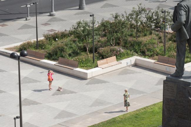 Реконструкция Триумфальной площади. Проект, 2013 © BUROMOSCOW, Ландшафтная компания ARTEZA