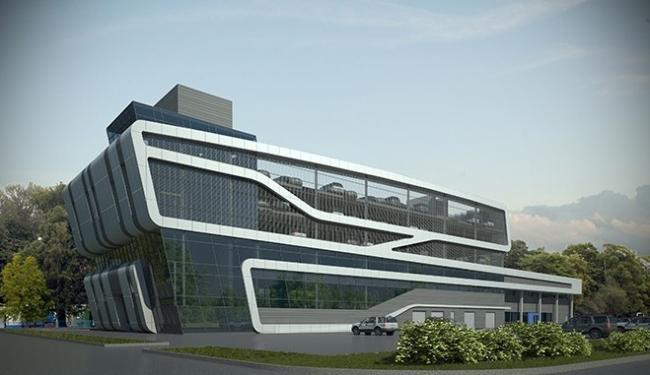 Автосалон «Ford». Проект, 2008 © Архитектурное бюро «А.Лен»