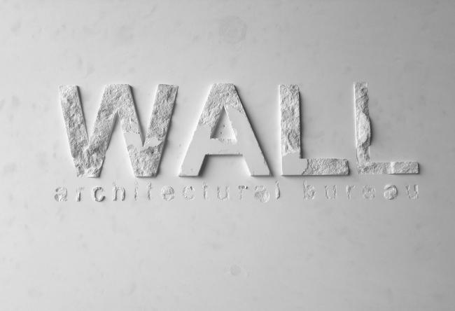 Рельефная композиция с логотипом бюро WALL