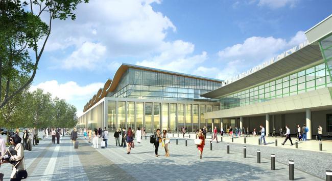 Новый пассажирский терминал аэропорта Астаны. Проект 2015, реализация намечена на 2017. Проект © MabetexGroup